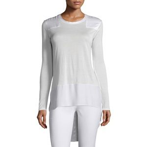 EUC - Rag & Bone - White Riley Long Sleeve Top - M